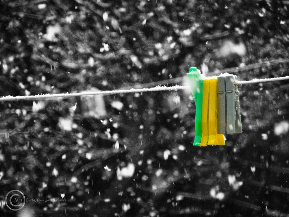 Washing line and pegs, South Shields