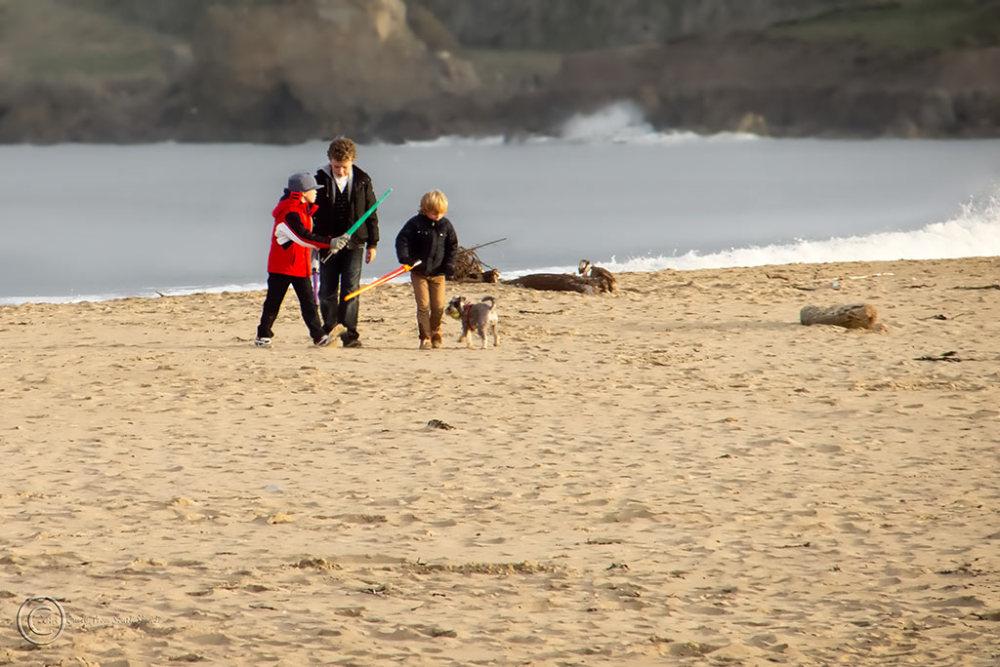 Children on Sandhaven Beach, South Shields