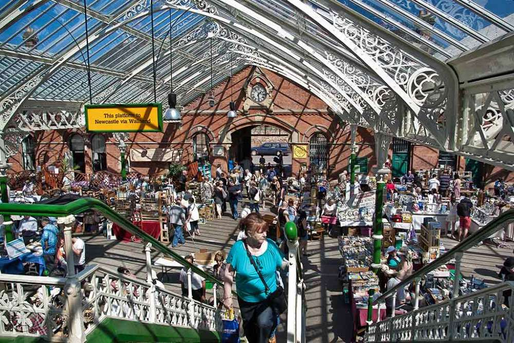 Flea market, Tynemouth Metro Station