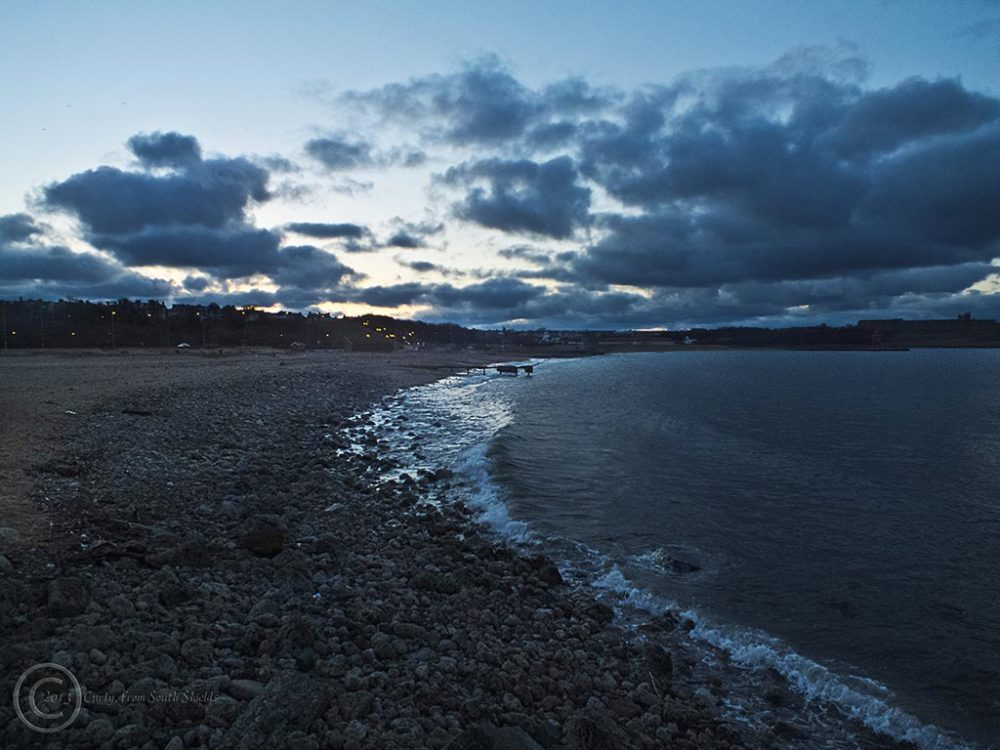 Littlehaven beach, South Shields at dusk.