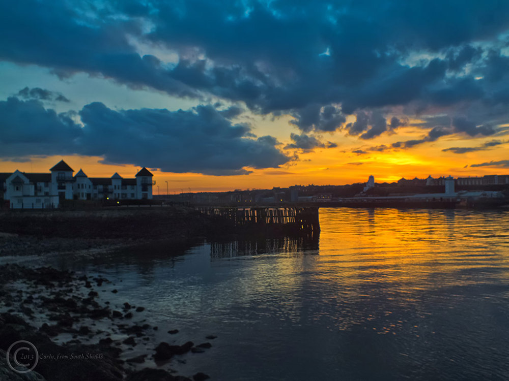 River Tyne sunset, south shields