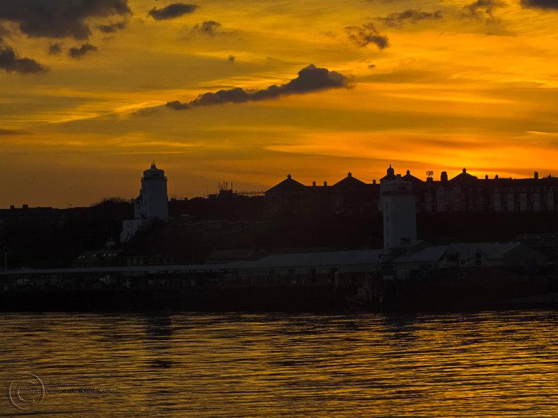 Sunset on River Tyne, South Shields