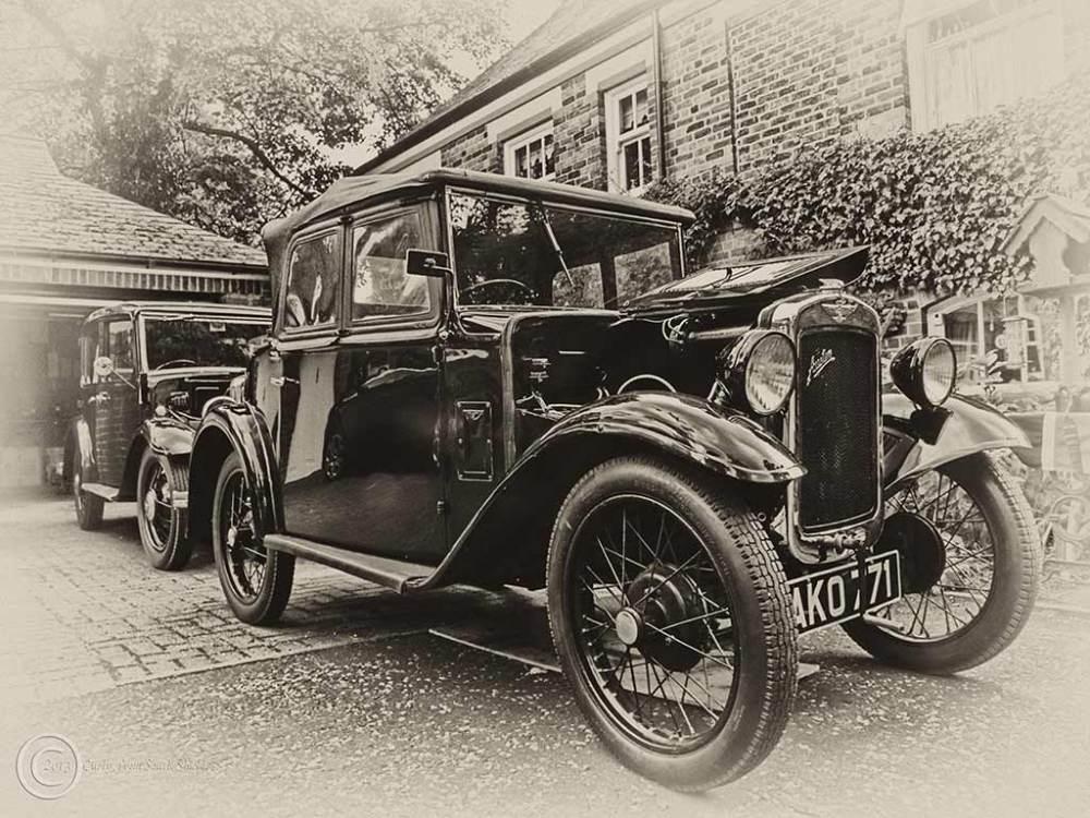 Austin cars, Westoe Village fete, South Shields