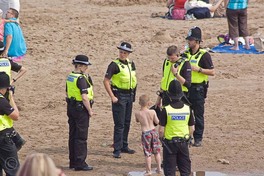 Police, Sunderland Air Show 2013, lost child