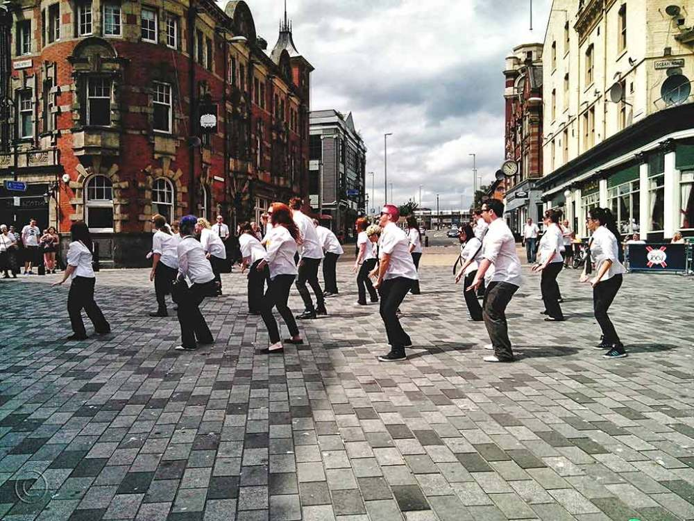 Flash mob, King Street, South Shields