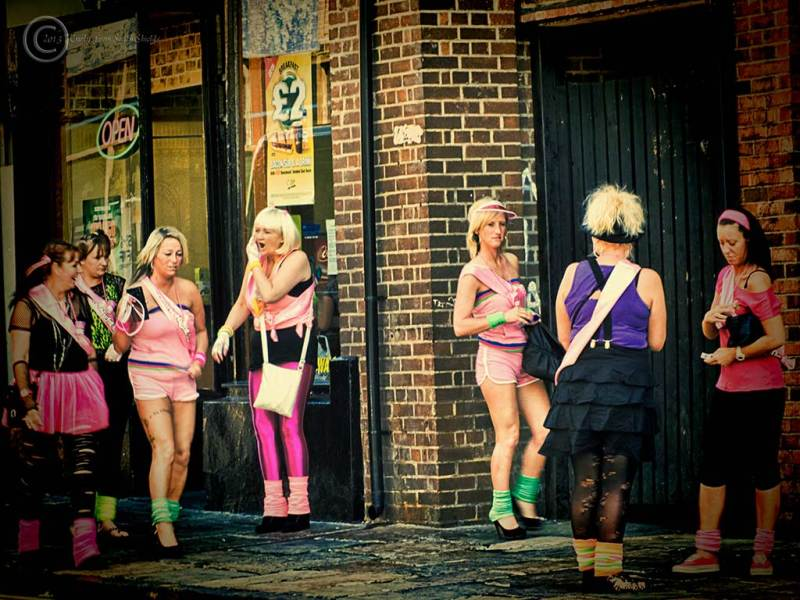 Girls in Durham for a hen night, UK