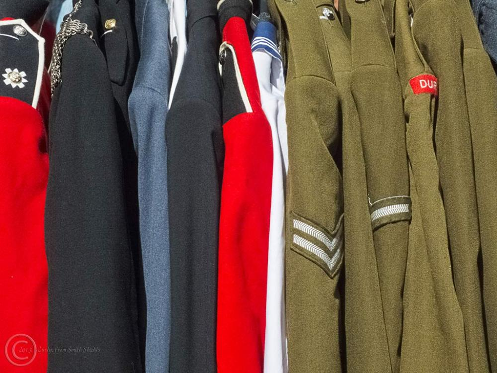 Uniforms, Durham market, UK