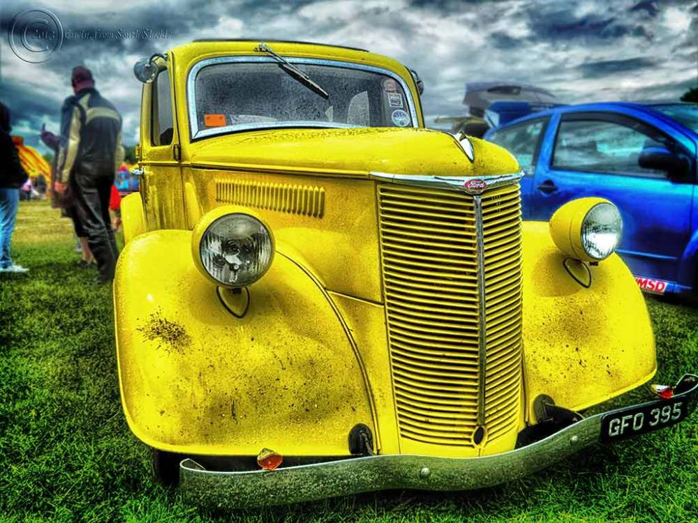 Ford car, Bents Park, South Shields UK