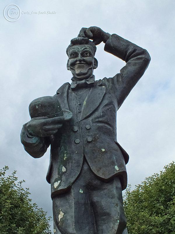 Stan Laurel statue, North Shields