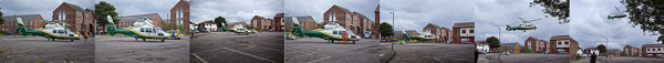 Air ambulance in South Shields, UK
