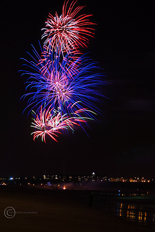 Fireworks, Sandhaven Beach, South Shields