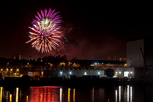 Fireworks, walker park, newcastle upon tyne