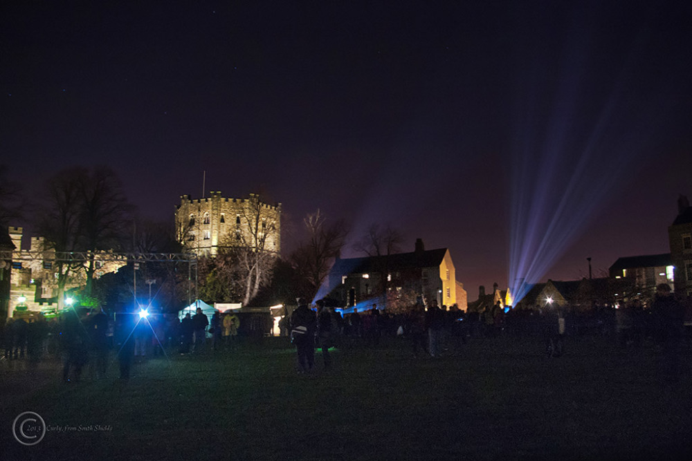 Lumiere Durham 2013 castle and Palace Green