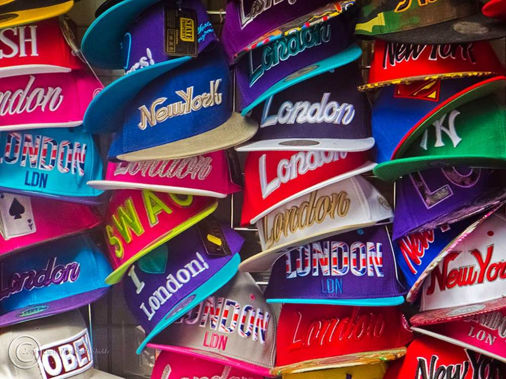 Souvenir caps in London