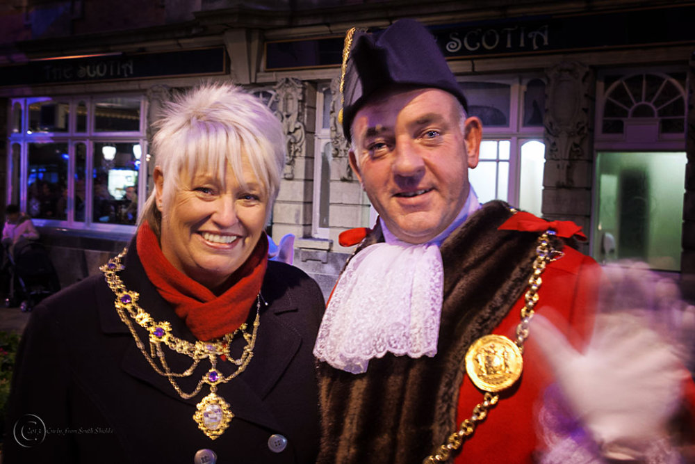Mayor of South Tyneside Cllr. Ernest Gibson and hi
