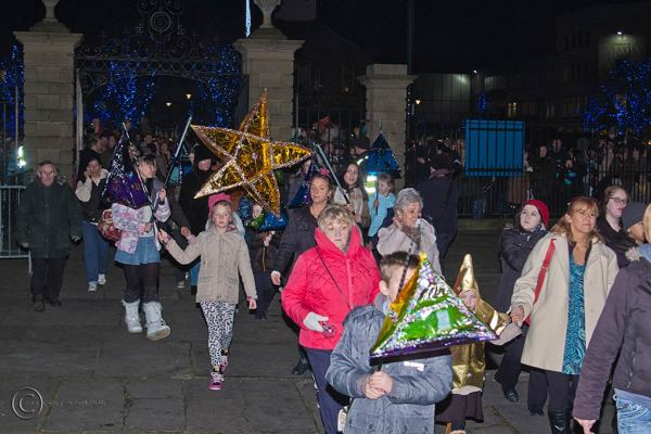 Winter procession, South Shields