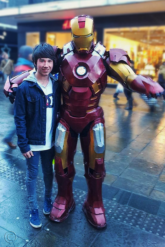 Junior and Iron Man in Newcastke