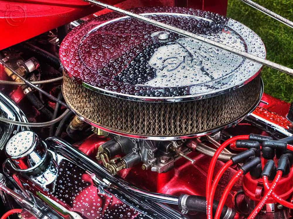Car engine bay, Bents Park, South Shields.