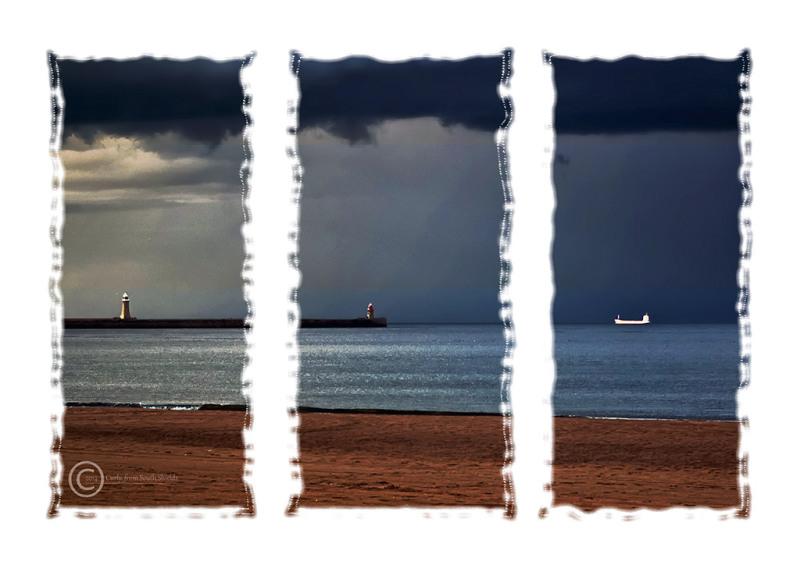 Sea view at South Shields, Tyne Wear