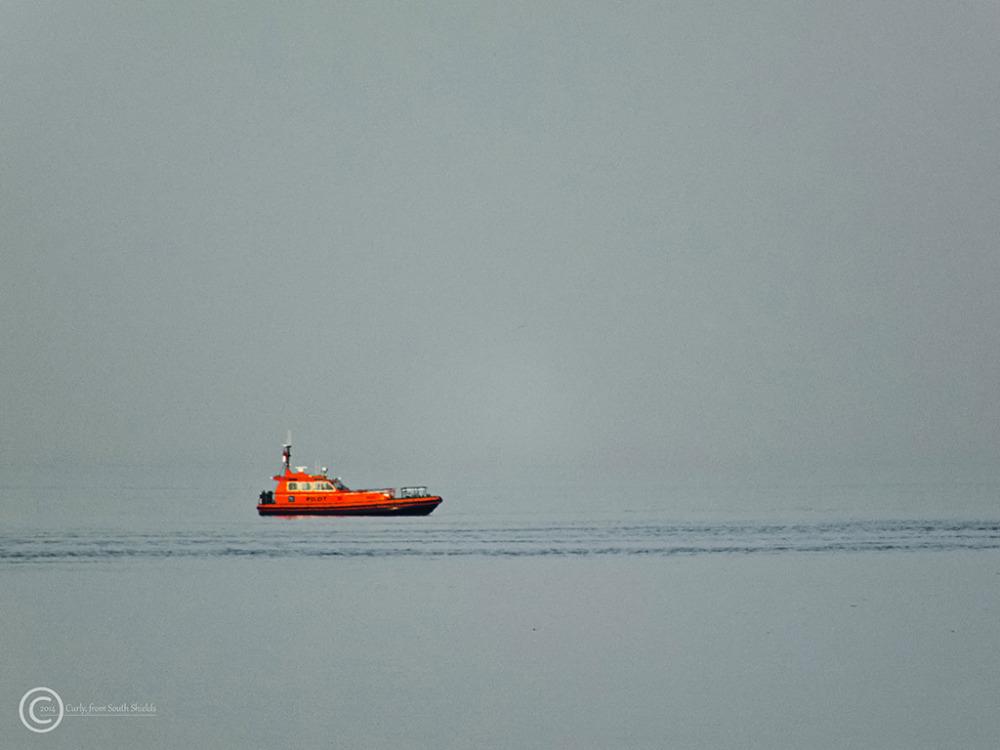 Pilot boat off South Shields, UK