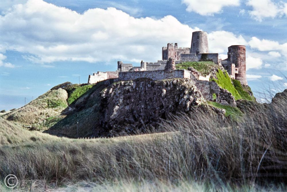 Bamburgh castle in 1990