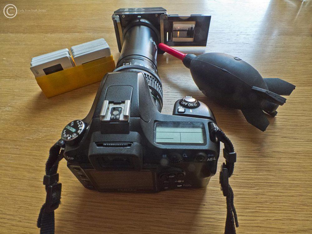 Copying slides to a digital camera