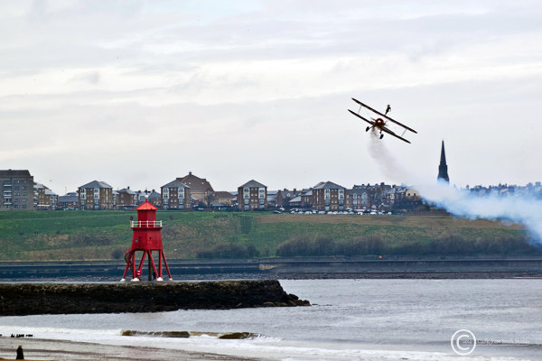 Breitling wing walkers, South Shields