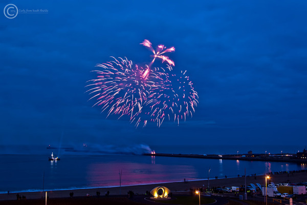 Littlehaven promenade, South Shields UK fireworks