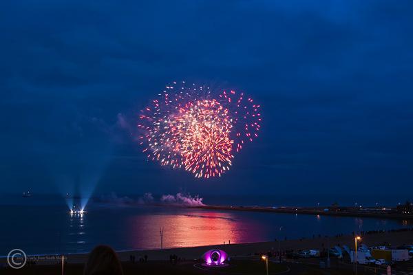 Fireworks, Littlehaven beach, South Shields