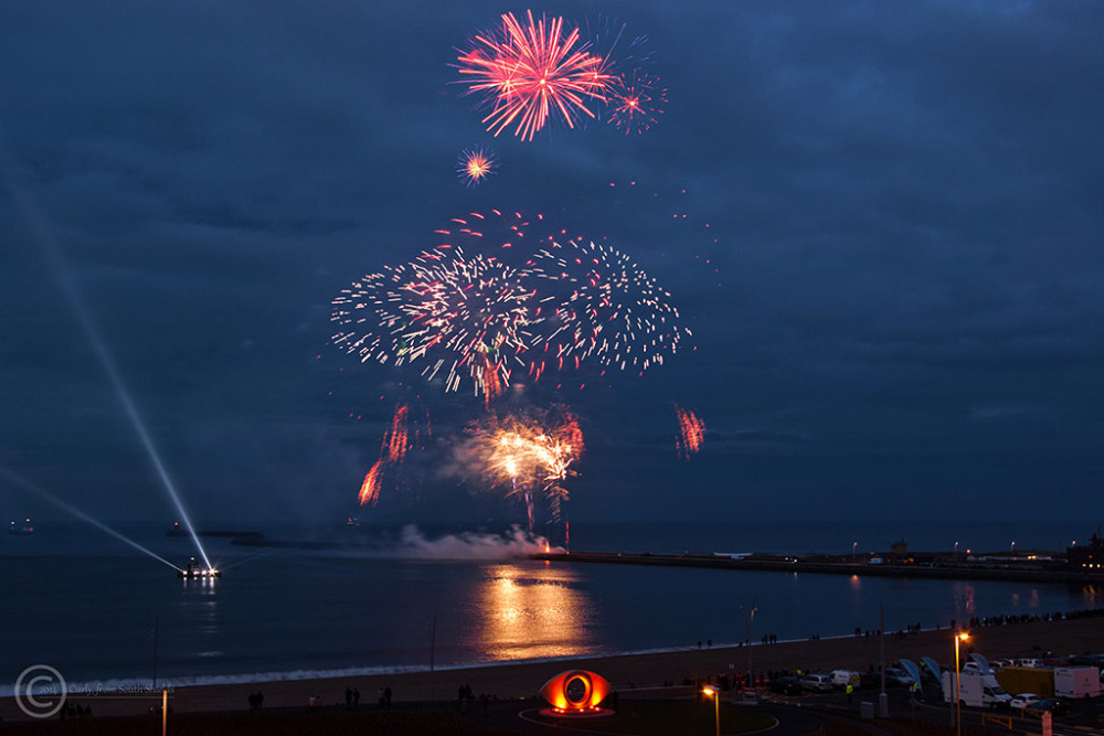 Fireworks, Littlehaven Beach, South Shields