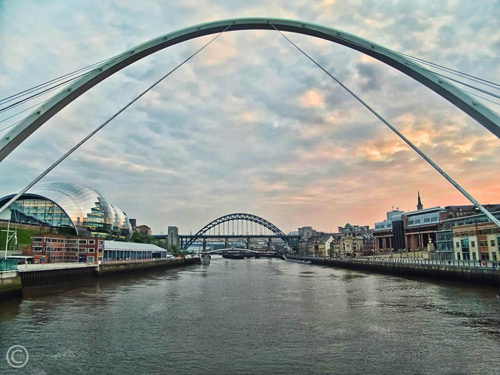 Bridges over River Tyne at Newcastle