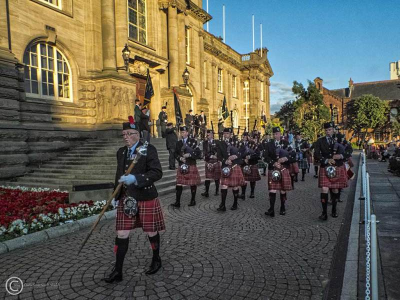 Beating the retreat in South Shields 2014