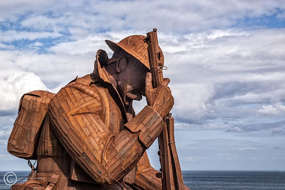 """Tommy"" sculpture in Seaham Harbour"