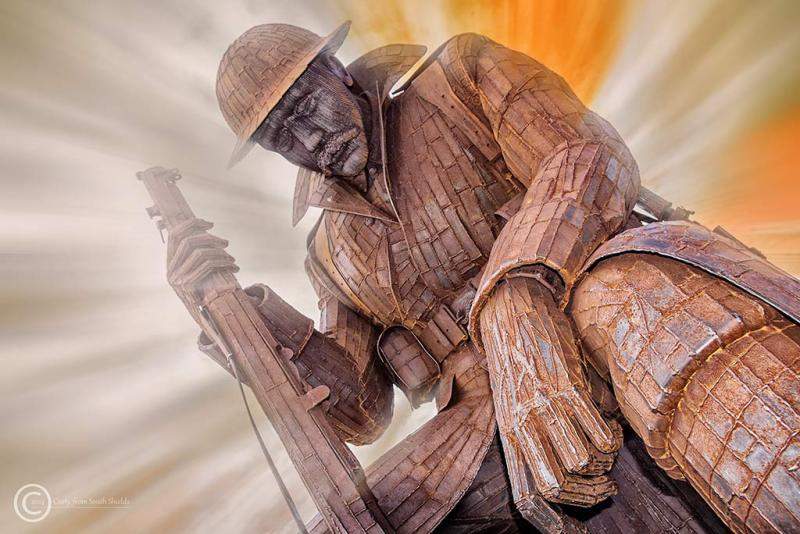 """""""Tommy"""" sculpture in Seaham Harbour"""