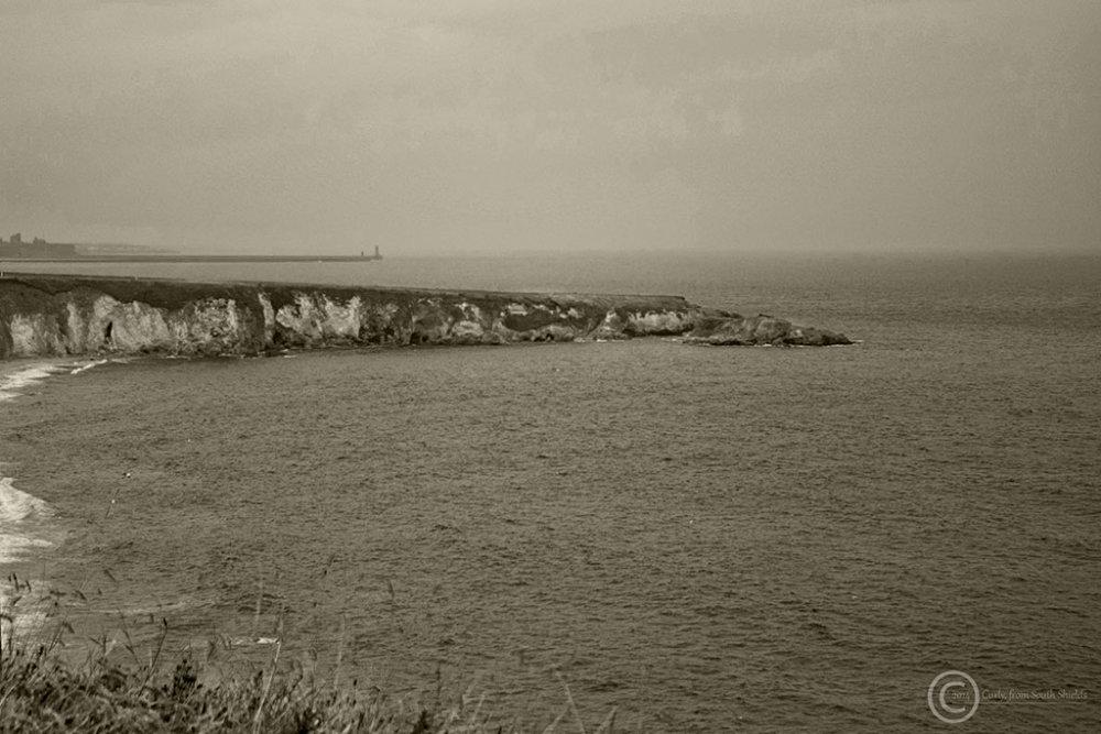 South Shields' coastline at Marsden.