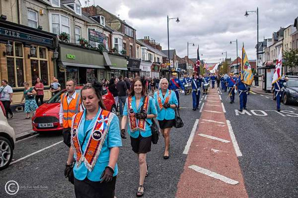 Orangemen parade in South Shields 2014