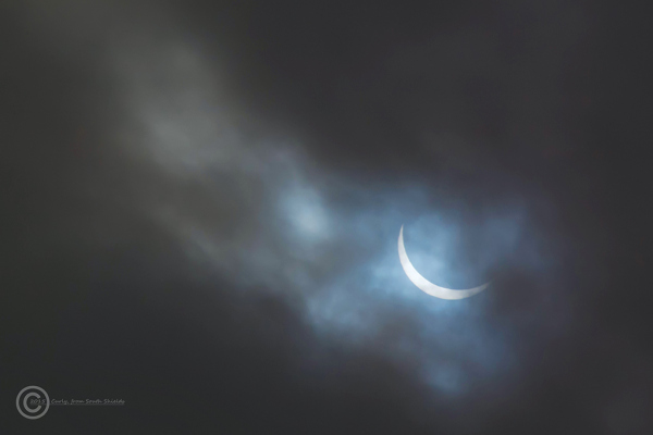 Solar eclipse seen from South Shields, UK