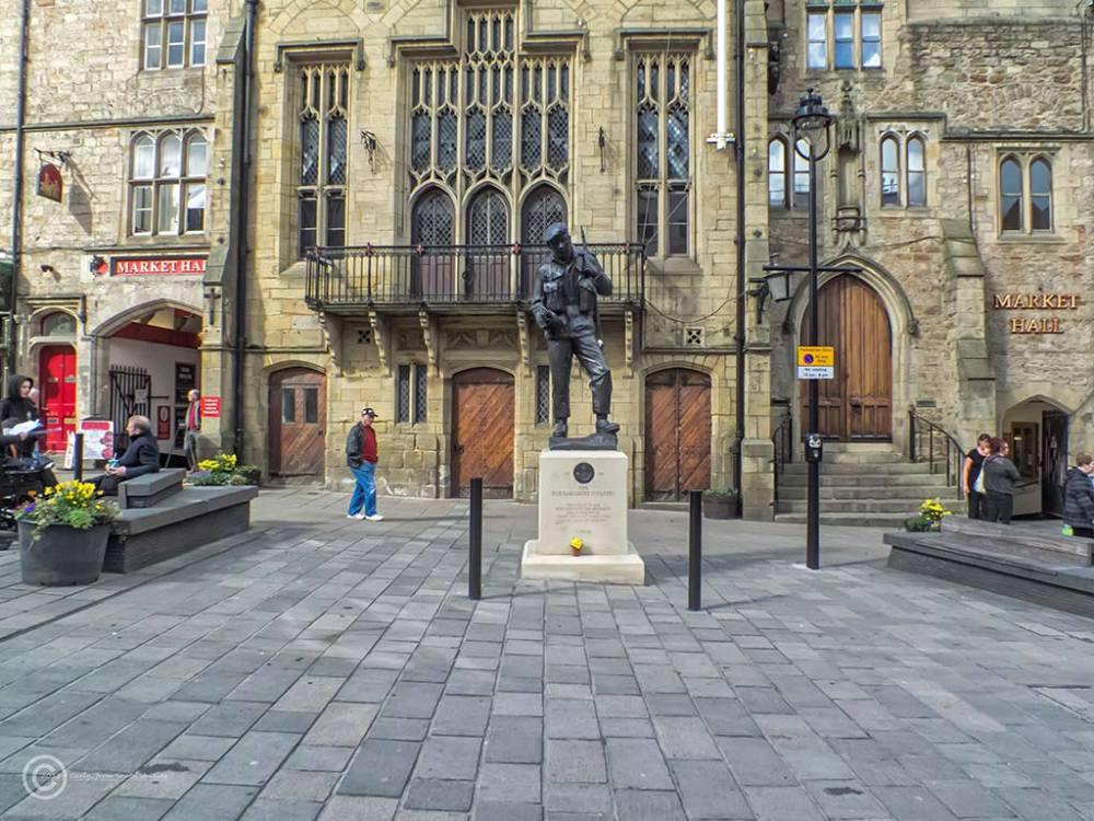 Durham Market Place, DLI Memorial