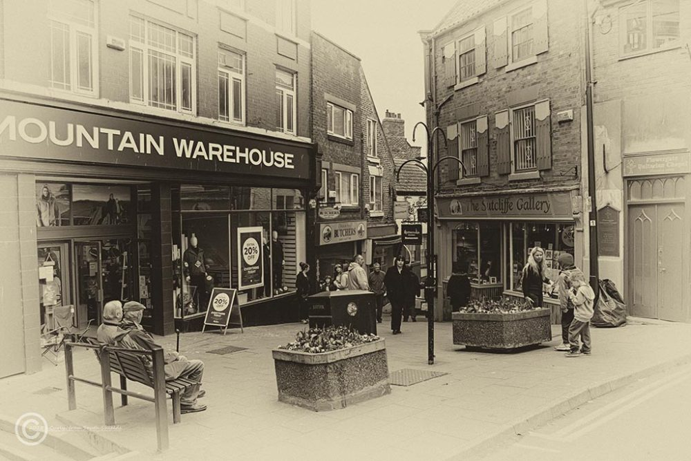 Street scene in Whitby, North Yorks, UK
