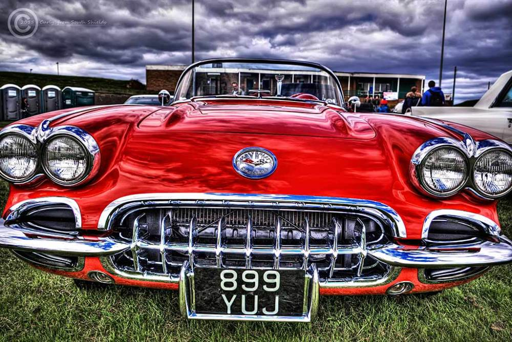American Car Show in South Shields, Corvette