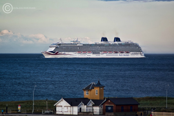 P&O Britannia passing South Shields