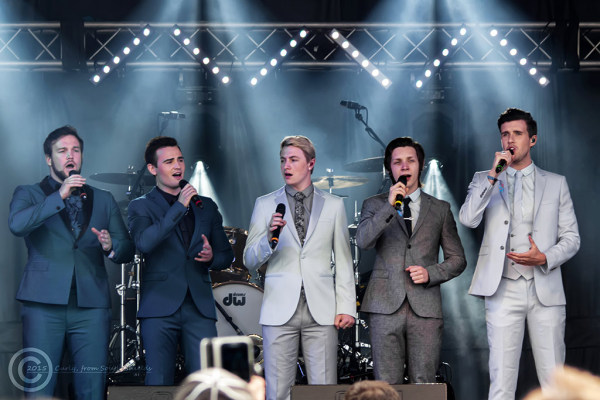 Collabro at Bents Park, South Shields 2015