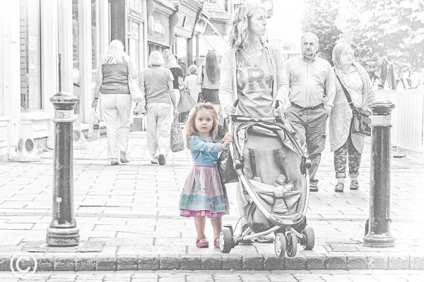 Little girl in York, England