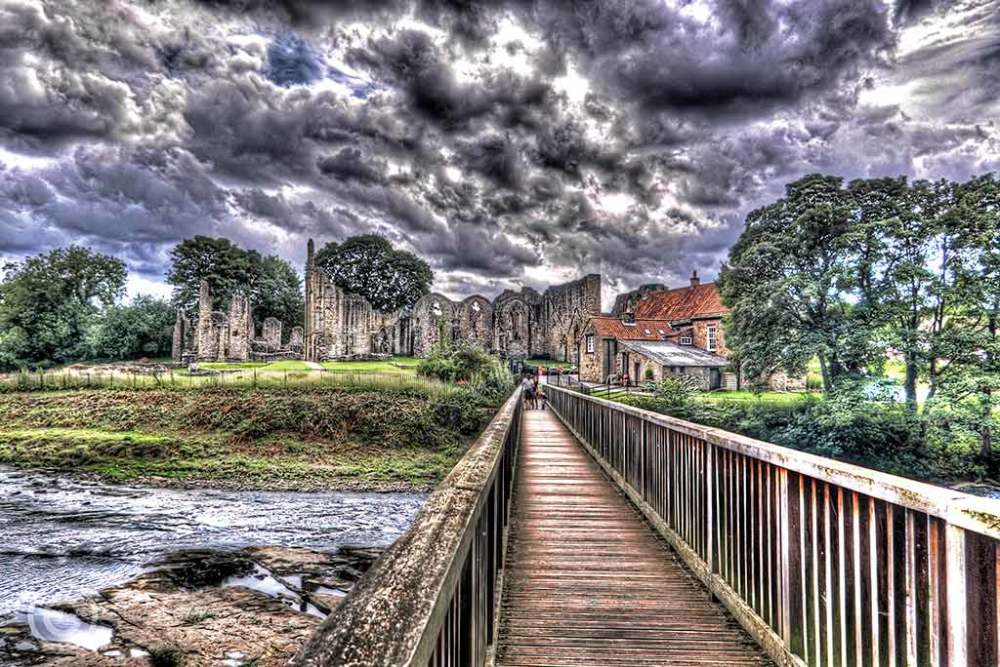 Finchale Priory near Durham, England