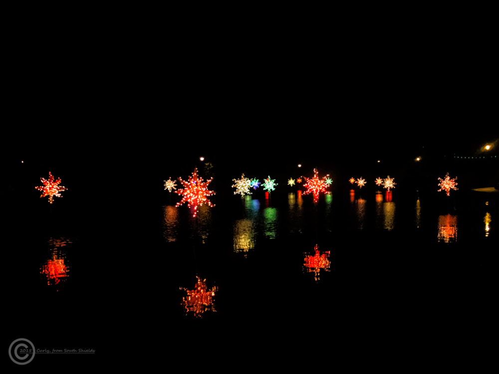 Illuminations in Roker Park, Sunderland.