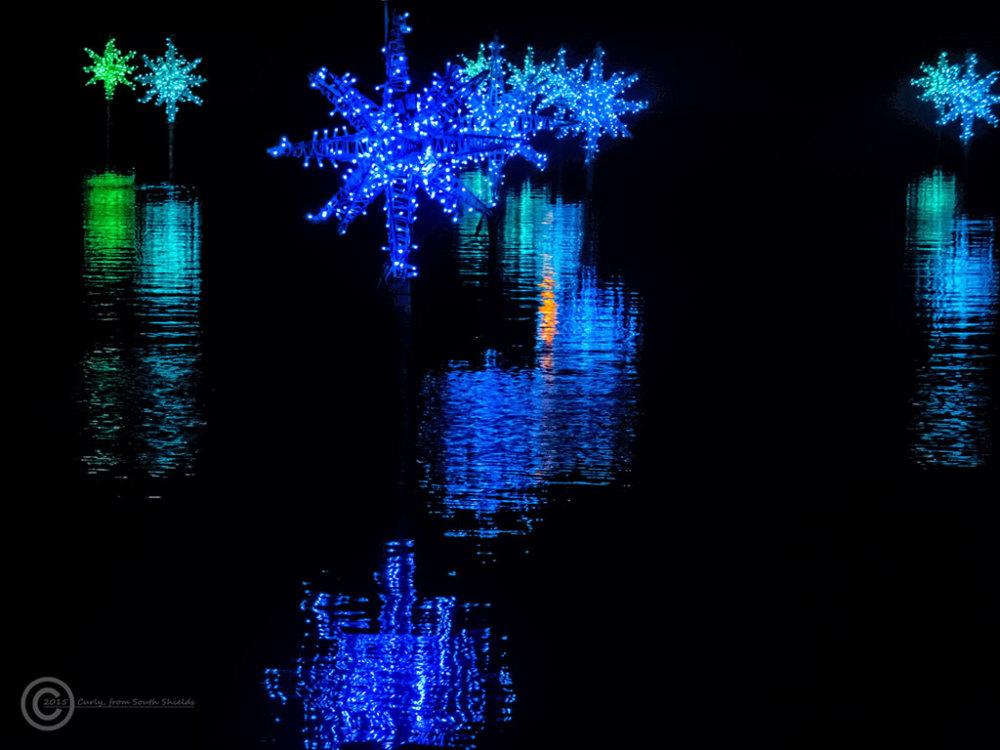 Illuminations in Roker Park, Sunderland.