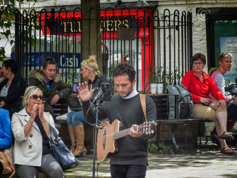 Street entertainer in York, United Kingdom
