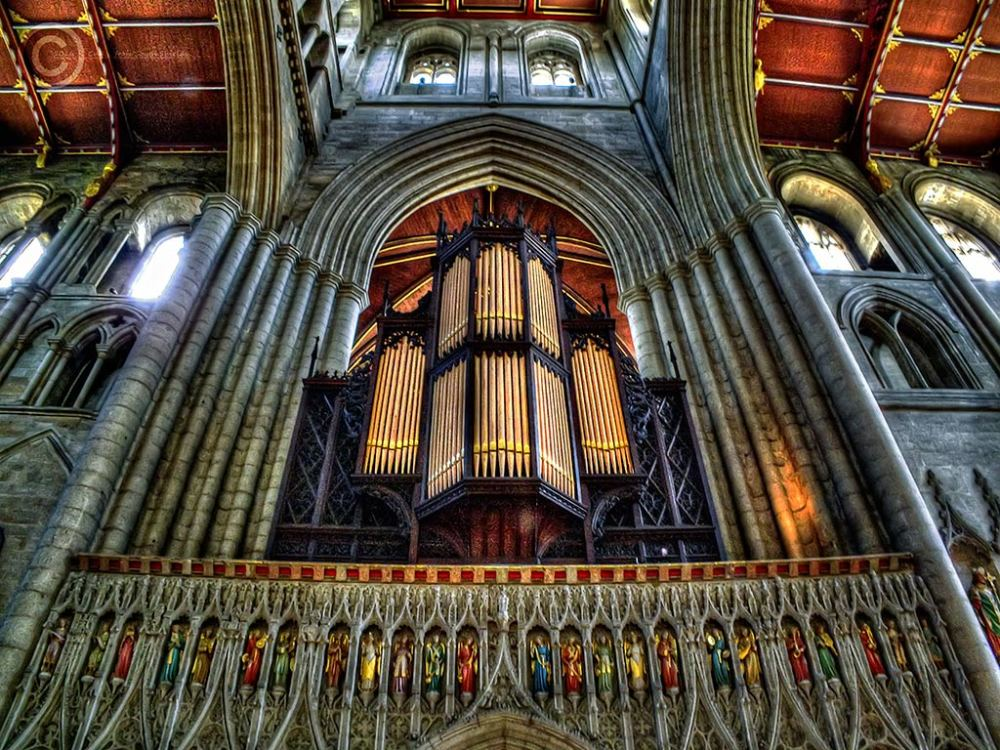 Ripon Cathedral organ gantry