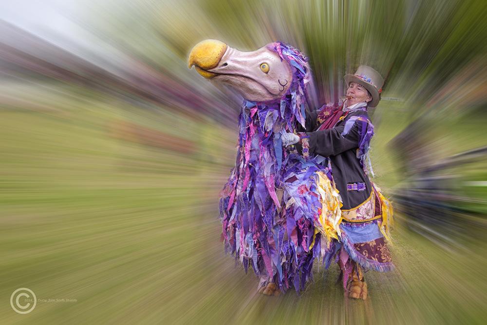 Street performer, Carlisle, Cumbria