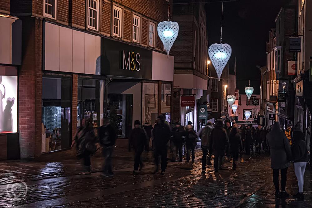 Silver Street, Durham, Lumiere Festival